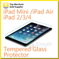 Wholesale For Ipad Mini Ipad iPAD Air1 H Hardness Tempered Glass Screen Protector Perfect Anti scratch Shatterproof with Package