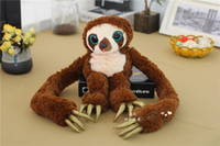 Wholesale Croods Monkey Belt - Wholesale-New DREAMWORKS MOVIE THE CROODS Belt the Sloth Monkey Soft Plush Dol 1 Pcsl weight 65cm 100cm 55cm High Quality In Stock
