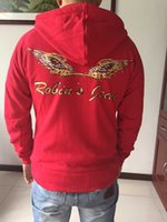 Wholesale NEW MENS ROBINS JEANS ZIPUP JACKET SWEATSHIRT GOLF WINGS NATURAL INDIAN HOODIE RED M L XL XXL XXXL