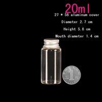 aluminum wood screws - ml mm Aluminum cover glass vials wood plug long type glass jar Glass Bottles glass jar