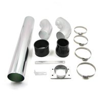 aluminum cold air intake tube - Universal new Car Air Injection Intake Aluminum Alloy Pipe High Flow mm Pipe Diameter Cold Air Intake Tubes System