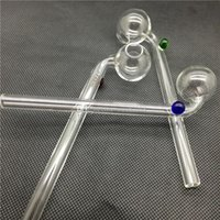 oil color - Curved Glass Oil burners Glass Pipes glass bong oil rig water pipes blue green amber color glass balancer e shisha electronic cigarette DHL
