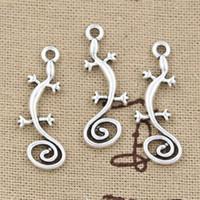 Charms antique housing - 150pcs Charms house lizard mm Antique Zinc alloy pendant fit Vintage Tibetan Silver DIY for bracelet necklace
