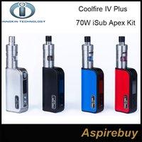 apex white - 100 Authentic Innokin Coolfire IV Plus W iSub Apex Starter Kit W Cool Fire IV Plus Battery with ML iSub APEX Sub Ohm Tank iSub A Kit
