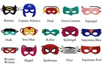 Wholesale Superhero mask Superman Batman Spiderman Hulk Thor IronMan Flash Captain America Wolverine Halloween Party Costumes for Kids