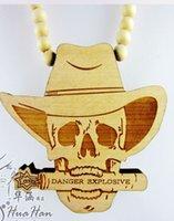 goodwood - 10PCS Good Wood Skull Pendent Necklace Hip Hop Necklace Wooden Beads Necklace Goodwood Jewelry