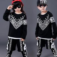 Wholesale Hot Sale Children Hip Hop Clothing Boys Girls Performance Clothing Sets Kids Sport Suits Kids Top Pants UA0121 salebags