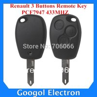 Wholesale car Best Price Renault Buttons Remote Key PCF7947 MHz