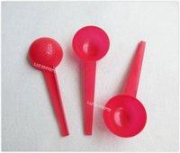 Envío libre 30 gramos de plástico HDPE cucharada Cuchara herramienta de medición de líquido de la leche en polvo médica - 150pcs / lot rojo OP914