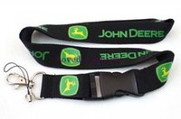 Wholesale Hot John Deere black lanyard badge holder mobile neck straps