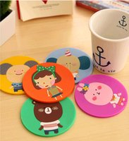 Wholesale creative household supplies round silicone coasters cute button coasters Cup mat ZW44
