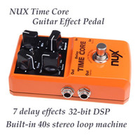 Wholesale TIME CORE Nux Delay Effects bit DSP s Record Time True Bypass Guitar Pedal Stereo Loop Machine Runs on Battery AC Power