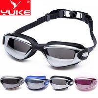 Wholesale Yu g New Unisex electroplating swimming goggles frame anti fog anti UV waterproof swimming goggles swimming glasses