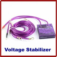Wholesale W110 New Universal Car Vehicle Voltage Stabilizer Fuel Saver Regulators With Earth Cable