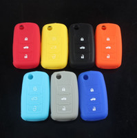 beetle car cover - Colorful BTN Smart Silicone Car Key Case Cover Shell for Volkswagen VW Jetta Sagitar Bora POLO passat touran Beetle tiguan touareg VWC01