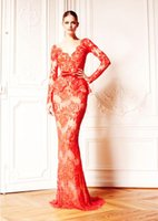 Cheap Wholesale - 2015 Sexy Pageant Gown Zuhair Murad Haute Couture Lace Applique Coral Evening Dresses 939