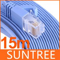 Wholesale RJ45 Cat6 Flat Ethernet Patch Network Lan Cable m Cat6 Snagless Ethernet Patch Cable in Blue Feet Flat Series