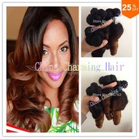 Brazilian Hair Curly Under $200 7a Aunty Funmi Hair Romance Curls 3 bundles Brazilian Spring Curly Virgin Hair Ombre Two Tone Color 1b 27# Human Hair Weave
