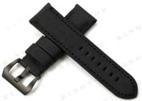 Wholesale Black Kevlar Leather Watch Band mm Nylon Strap With Steel Black PVD Tang Buckle Watchband for Panerai Men s watches New