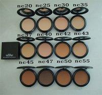 Wholesale Makeup powder foundation studio fix plus powder puffs g NC NW cosmetics cover powder color DHL