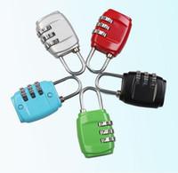 Wholesale New Customs Luggage Padlock Resettable Digit Combination Padlock Suitcase Travel Lock TSA locks