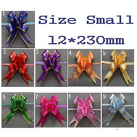 pull bows - Size Small mm Pull Bows Ribbons Flower Gift Wrapping Wedding Party Decoration Pullbows multi color option