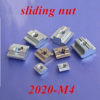 Wholesale 100pcs M4 T Sliding nut block Slot zinc plated carbon steel Aluminum Accessories for auminum profile