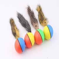 Wholesale 2015 new hot Dog Cat Weasel Motorized Funny Rolling Ball Pet Appears Jump Moving Alive Toy
