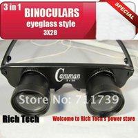10Pcs de style archéologique de haute qualité Collectionneurs 3 en 1 Eyeglass 3x28 Grossissement d'observation du télescope / lunettes télescope