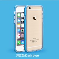 fresh apple - Fresh Ultra Thin Metal Bumper TPU Back Cover Case For Apple iPhone S Aluminum Soft Transparent MOQ