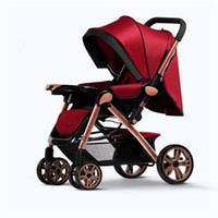 baby trolley covers - Stroller for Infant Baby Children with Stroller Cover Four Wheels Folding Baby Stroller Light Weight Baby Trolley Poussette