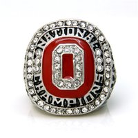 championship ring - 2014 OSU Ohio State Buckeyes CFP Football National Championships Ring For Men Azaming Crystal Rings New Arrival Custom Championship Rings