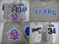 authentic rangers jerseys - Texas Rangers Jersey Nolan Ryan Jersey White Grey Stitched Authentic Retor Throwback Baseball Jersey Size M XL