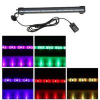 Wholesale IP68 Degree RGB Colors Submersible Remote Control Pet Fish Tank LED Light Bar cm w LEDs Bubble Aquarium Light H15112