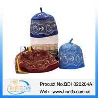 muslim prayer cap - Classical arabic Turban Wool Felt Embroidery Muslim Hat Muslim Prayer Cap Islamic Hat