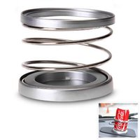 Wholesale Auto Truck Car Van Instrument Panel Cup Bottle Drink Holder Cupholder Silvery Metal Stands