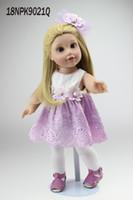 baby doll dress pattern - 18 inch Vinyl Princess Girl Dolls Cute Realistic Girl Birthday Gift Alexander Girl Doll in Flower Pattern Dress