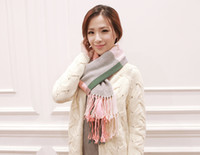 knitted cashmere scarf - 2015 new winter fashion women s Extra long knitted scarf fringed scarves thick warm plaid shawl Wrap