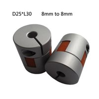 Wholesale Plum style Jaw Shaft Coupling mm to mm Flexible Coupler D25L30 for dc motor from tsiny motor