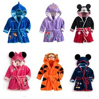 Wholesale HOT Bathro Hooded Animal Mouse Minnie Baby Bathrobe Cartoon Baby Towel Character kids bathrobe children s bathrobe colors