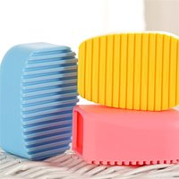 clothing cleaning - Hot Seller Cleaning Brushes Hand hold Laundry Washboard Scrubbing Tools Silicone Size CM JA65