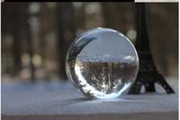 asian table - 80mm Rare Clear Asian Quartz Crystal Ball Sphere Fashion Table Decor Good Luck Ball feng shui ball