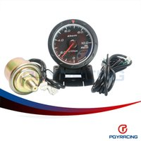Wholesale PQY STORE quot MM Defi Advance CR Gauge Oil Press Gauge with Red LCD Display Black Face PQY YB6266BK