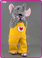 Custom Made amusement s - Yellow Pants Holiday Happy Elephant Mascot Costume Amusement Park Elephant Mascotte Mascota Outfit Suit