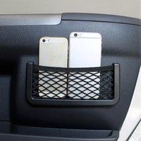 Wholesale Universal Car Mesh Storage Bag Elastic Net Seat Side Back Sticky Storage Bag for iPhone s plus Holder Pocket Car Styling order lt no tra