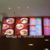 Wholesale LED magic mirror slim advertising a2 light box for restaurant fast food restaurant menu board