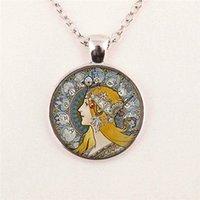 american beauty photos - beauty girl photo art necklace Alphonse Mucha Necklace Glass Dome pendant jewelry glass gemstone necklace