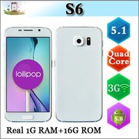 Wholesale 1 S6 inch SM G9200 Real GB RAM GB ROM MTK6582 Quad Core Android Lollipop MP G WCDMA GPS Show MTK6592 Octa Core S6