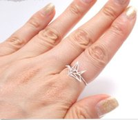 american crane - 10pcs New arrival New Origami Crane ring statement ring couple ring JZ252