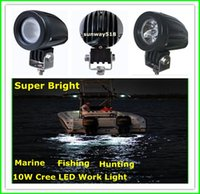 Wholesale 2 quot W Cree LED Work Light Bar Lamp for Motorcycle Tractor Boat Off Road WD x4 Truck SUV ATV Spot Flood v v